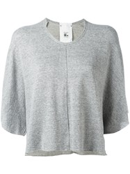 Lost And Found Rooms Cropped T Shirt Women Cotton Spandex Elastane Viscose M Grey