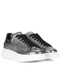 Alexander Mcqueen Leather Sneakers Silver