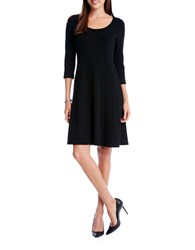 Karen Kane Three Quarter Sleeve Sweater Dress Black