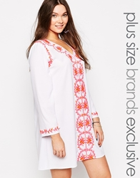 Alice And You Embroidered Shift Dress White