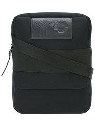 Y 3 Logo Patch Messenger Bag Black