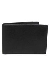 Boconi 'Grant Slimster' Rfid Blocker Leather Wallet Black Grey