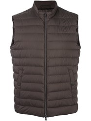 Herno Padded Vest Brown