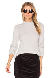 James Perse Cashmere Turtleneck Sweater Gray