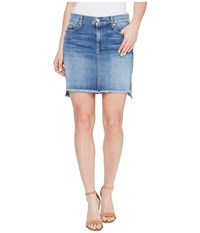 7 For All Mankind Pencil Skirt W Step Hem In Vintage Air Classic Vintage Air Classic Women's Skirt Blue