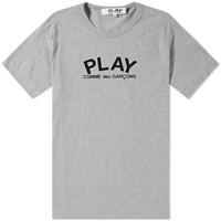 Comme Des Garcons Play Back Logo Heart Tee Grey