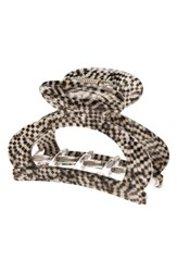 France Luxe Cutout Jaw Clip Opera Silver