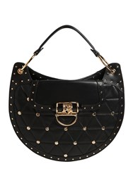 Balmain Medium Quilted Leather Bag W Studs