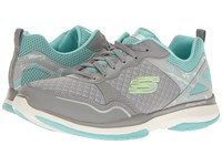 Skechers Burst Tr Gray Blue Women's Shoes