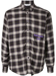 Ground Zero Substantial Void Checked Shirt Purple