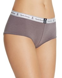 Psycho Bunny Logo Boyshort Lpb1003 Medium Grey