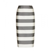 Burberry Silk And Cotton Skirt Pale Grey