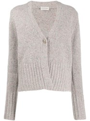 By Malene Birger Buttoned Knitted Cardigan Grey