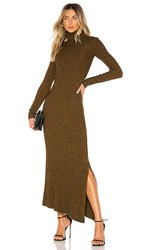 A.L.C. Emmy Dress In Brown. Honey And Black