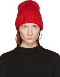 Hyke Red Wool Beanie