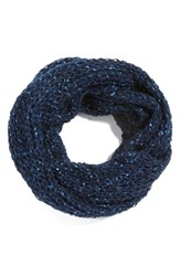 Women's Collection Xiix Glitter Fleck Infinity Scarf Blue Navy