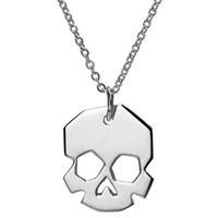 Delphine Leymarie Facets Skull Necklace Silver