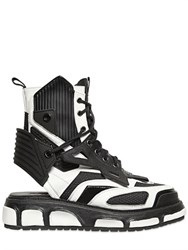 Ktz Two Tone Leather Combat Sandal Boots
