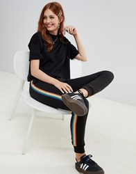 New Look Rainbow Tipping Jogger Black