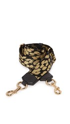 Marc Jacobs Webbed Leopard Handbag Guitar Strap Gold Black