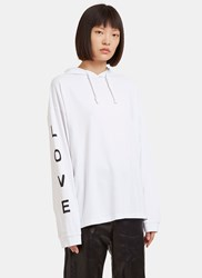Alyx Love Hooded Sweater White
