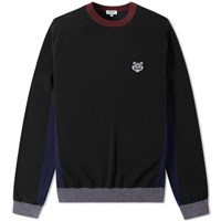Kenzo Colour Block Crew Knit Black