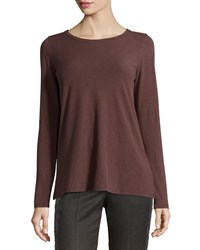 Brunello Cucinelli Basic Long Sleeve Tee Beaver Brown