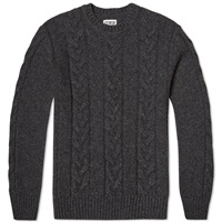 Edwin Shackle Crew Knit Charcoal