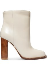 Marni Leather Ankle Boots White