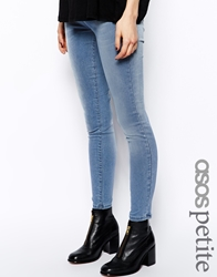 Asos Petite Jameson Low Rise Denim Jeggings In Light Wash Lightwash