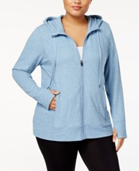 Ideology Plus Size Zip Hoodie Created For Macy's Infinity Heather