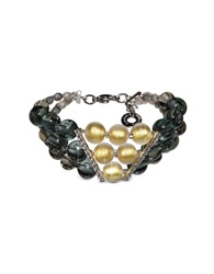 Antica Murrina Veneziana Atelier Nuance Grey And Amber Murano Glass Bracelet Gray