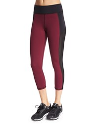Michi Stardust Mesh Panel Cropped Sport Leggings Shiraz
