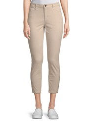 Ellen Tracy Newport High Rise Cropped Skinny Pants Sand