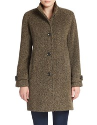 Jones New York Single Breasted Wool Blend Coat Brown