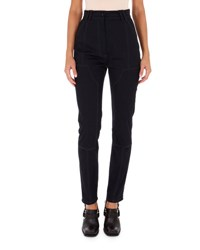Atlein High Waist Twill Skinny Pants Navy
