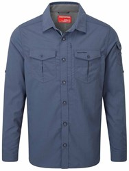 Craghoppers Nosilife Advanced Long Sleeved Shirt Blue