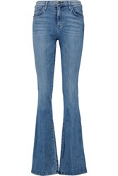Current Elliott The Low Bell High Rise Flared Jeans Mid Denim