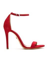 Schutz S0138702680678 Club Red Leather Fur Exotic