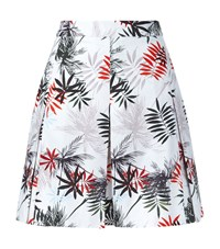 Reiss Selena Printed A Line Skirt Female White