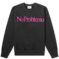 Aries No Problemo Flocked Sweat Black