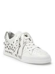 Ash Extra Spiked Leather Sneakers White Black