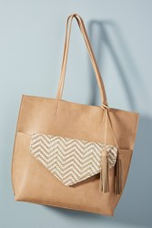 Anthropologie Thoma Clutch Tote Bag Neutral