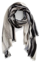 Nordstrom Women's Artist Ombre Cashmere And Silk Scarf Grey Combo