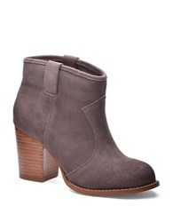 Splendid Lakota Suede Ankle Slip On Boots Dark Stone