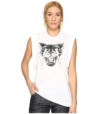 Dsquared Renny Fit Cat Muscle T Shirt White Women's T Shirt