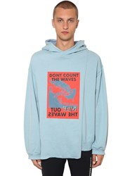 Ambush Waves Cape Cotton Sweatshirt Hoodie Blue