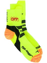 Off White Industrial Y013 Ankle Socks Yellow