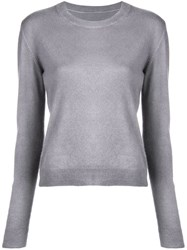 The Elder Statesman Fine Knit Sweater Grey