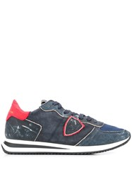 Philippe Model Distressed Tropez Sneakers Blue
